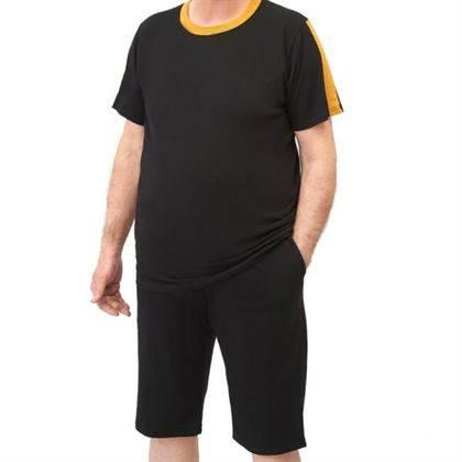 t-shirt uomo misura 4xl canottiere e magliette intime uomo MAGLIA EXTRALARGE FASCE BICOLORE IN VERTICALE TESSUTO MAGLINA IN COTONE