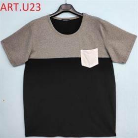 t-shirt taglia 8xl t-shirt uomo outlet caballero MAGLIA UOMO TAGLIE FORTI BICOLORE CON TASCHINO BIANCO COTONE