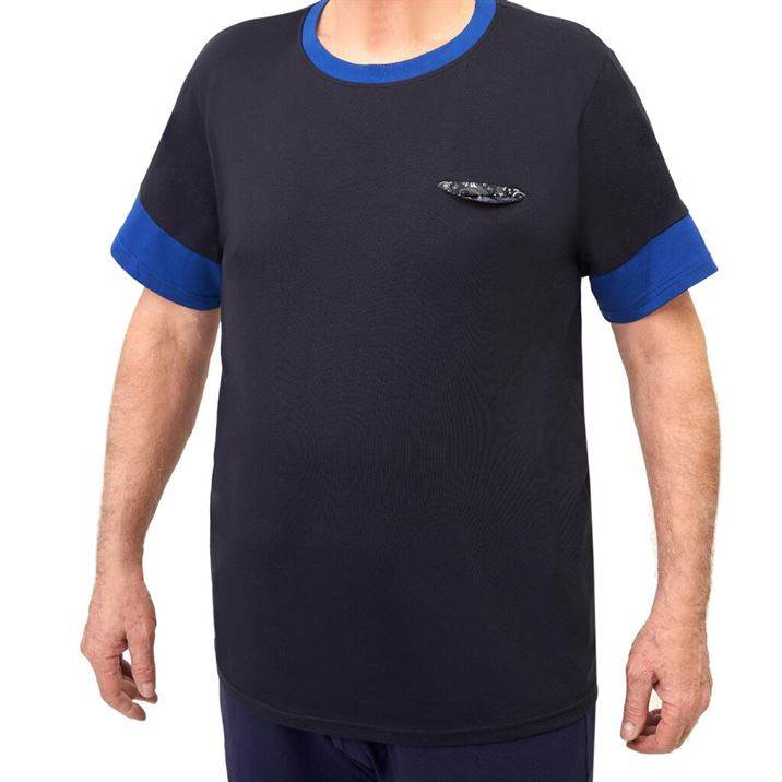 t-shirt taglia 9xl MAGLIA UOMO EXTRALARGE TASCHINO FANTASIA COTONE